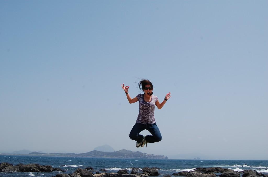 Jumpy pic in Jeju, South Korea