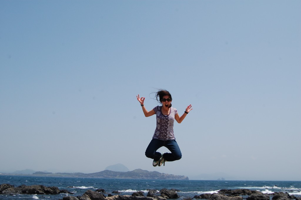 Jumpy pic in Jeju, South Korea