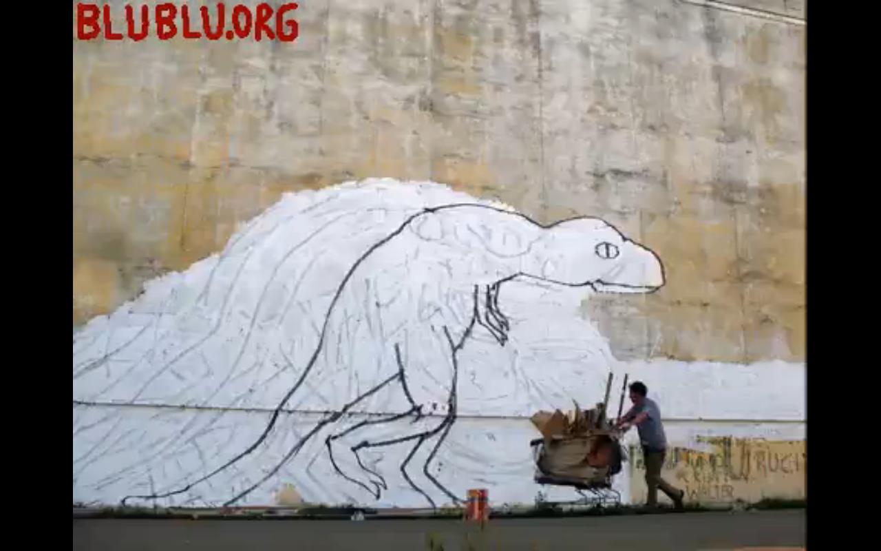 "Screen shot from the short film ""Big Bang Big Boom"" by Blu"