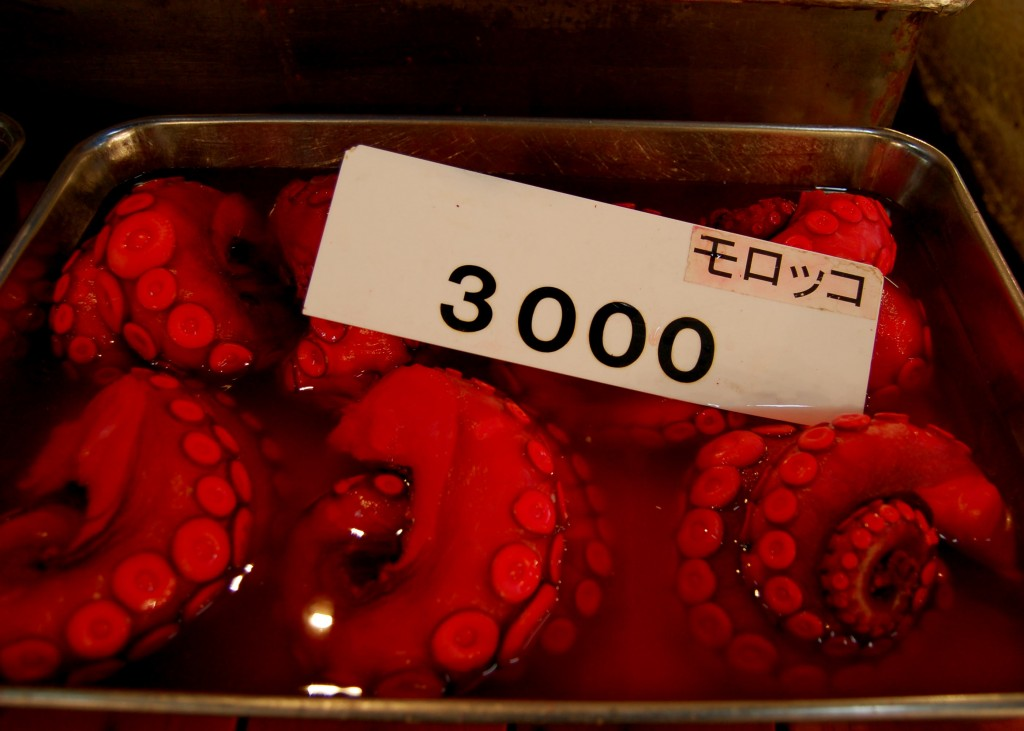 Octopus for sale in Japan