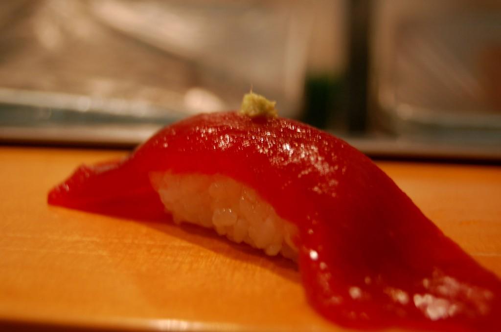 Snapper sushi at Sushi Dai in Tokyo