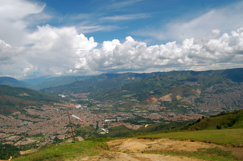 Take-off field for paragliding in Medellin, Colombia