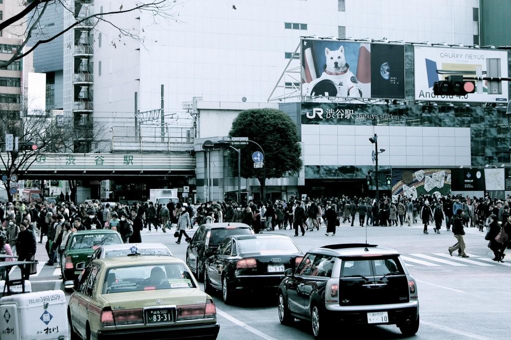 Traffic at Shibuya Crossing