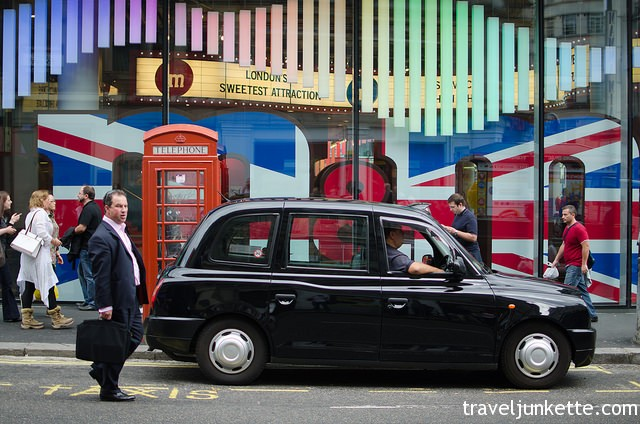 Black cab on the streets of London