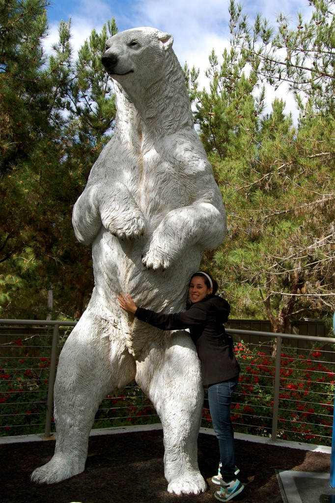 Polar bear statue at the San Diego Zoo