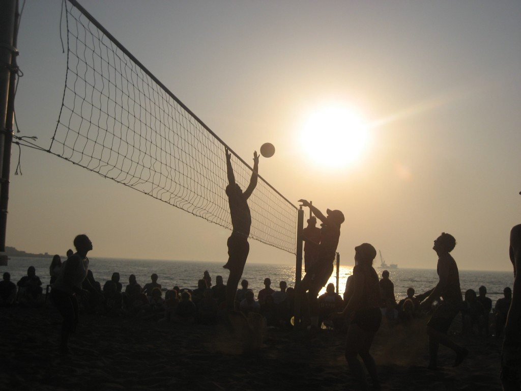 Beach volleyball game Furey Foundation Jeju Island