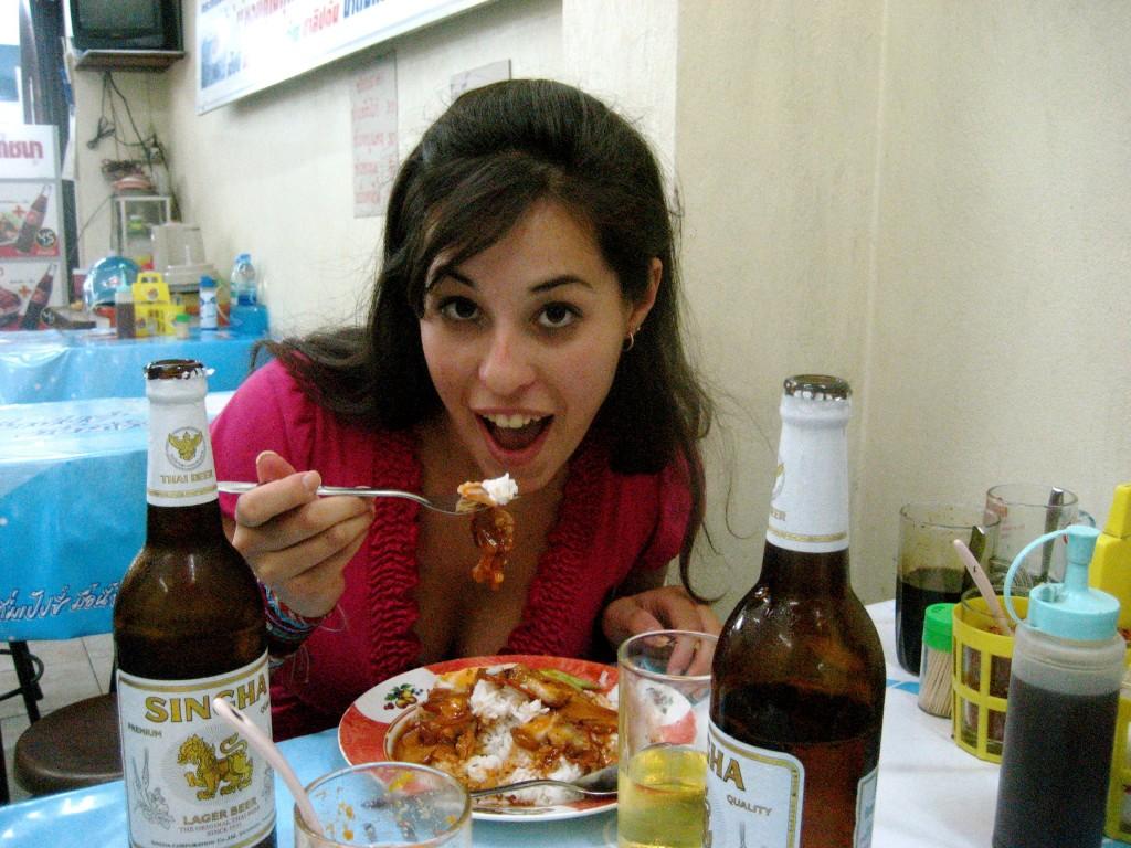 Red chicken curry in Thailand