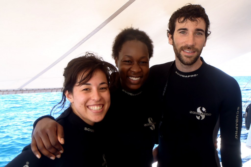 Divers in wetsuits - Malapascua Island