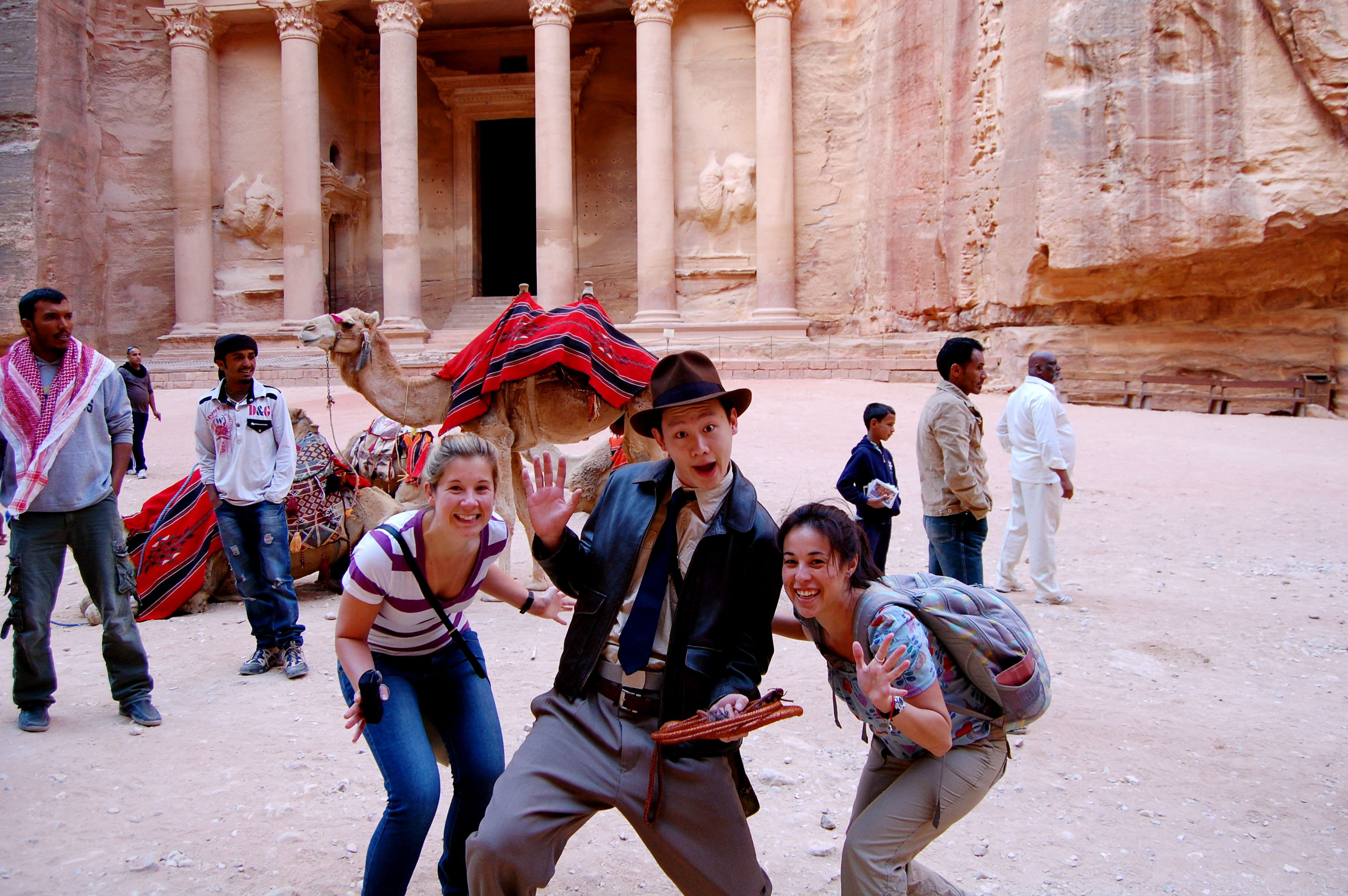 The real Indiana Jones at Petra, Jordan