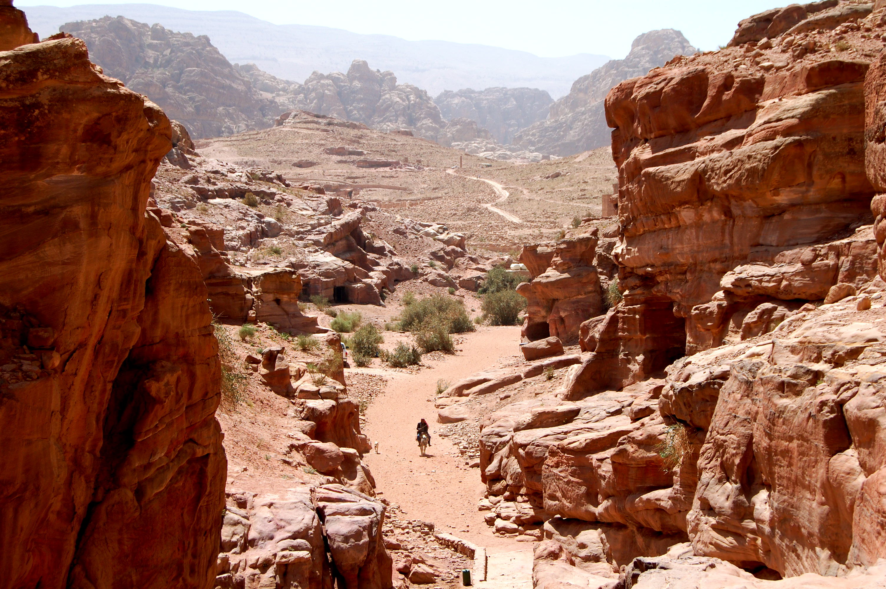 View of Petra from the Monastery