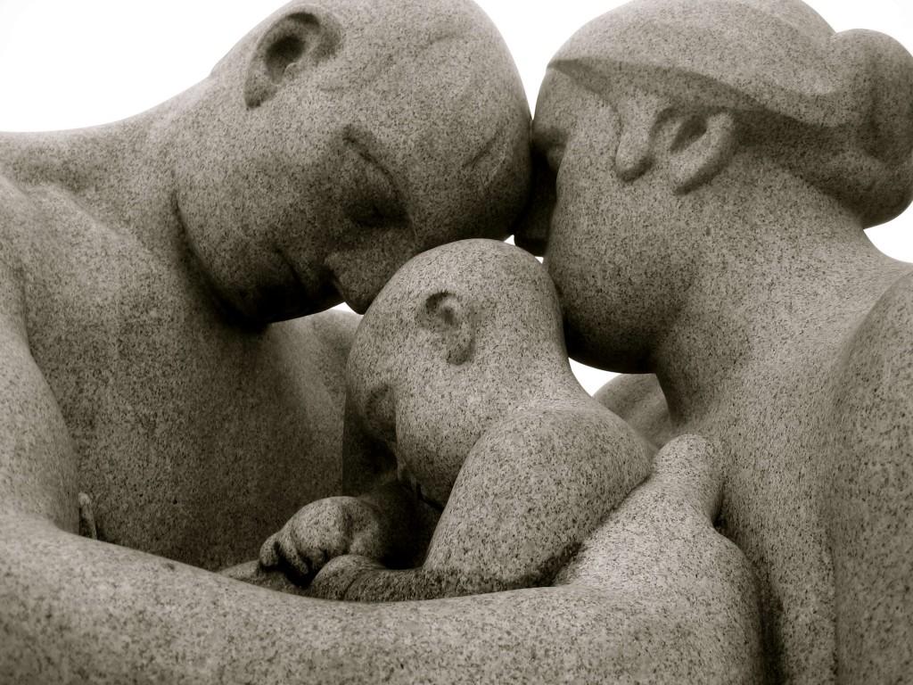 Family sculpture at Vigelandsparken, Oslo, Norway