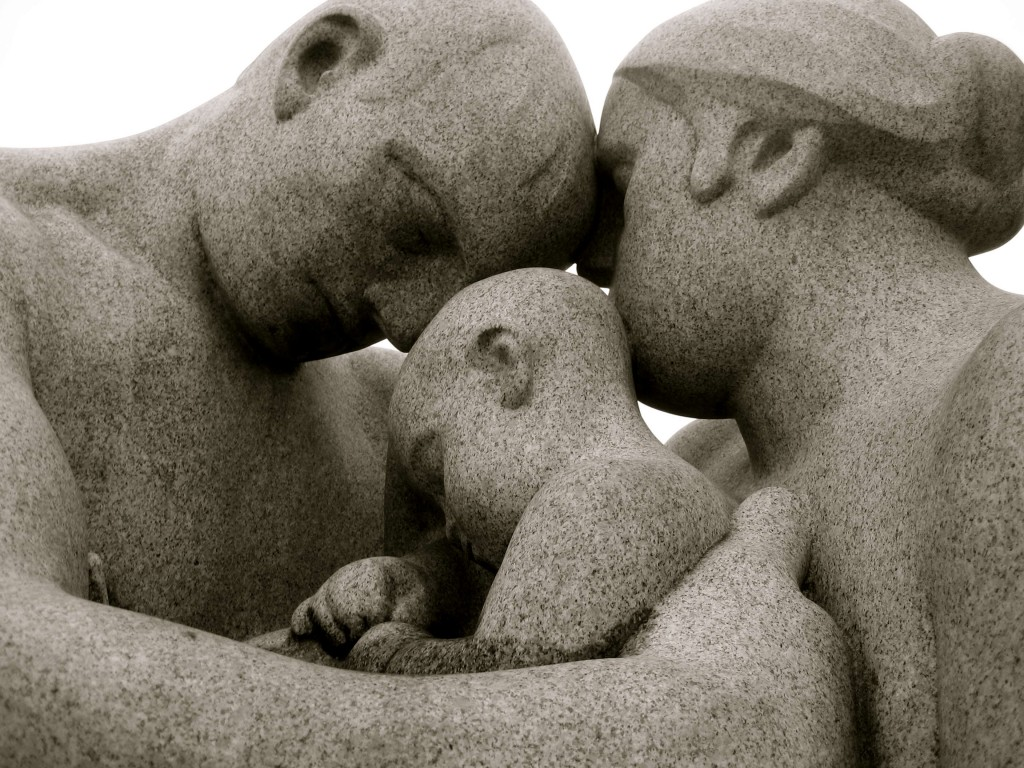 Family sculpture at Vigelandsparken, Oslo, Norway