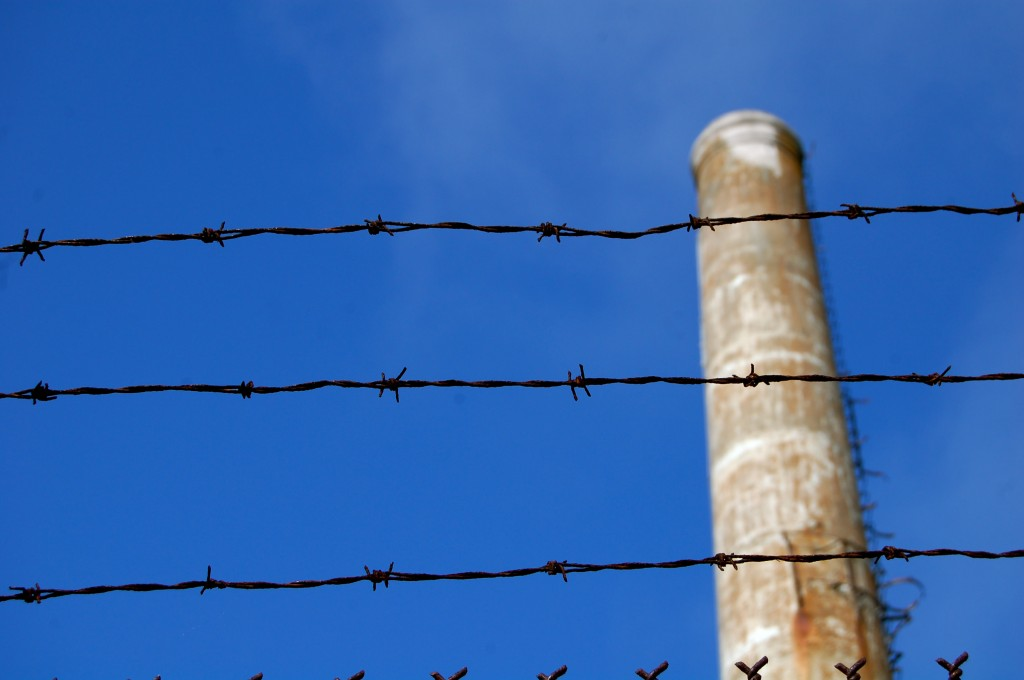 Barb wire fence at Alcatraz