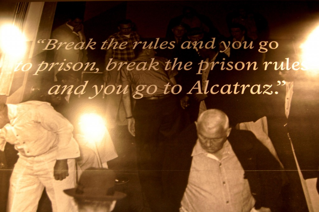 Entrance sign at Alcatraz.