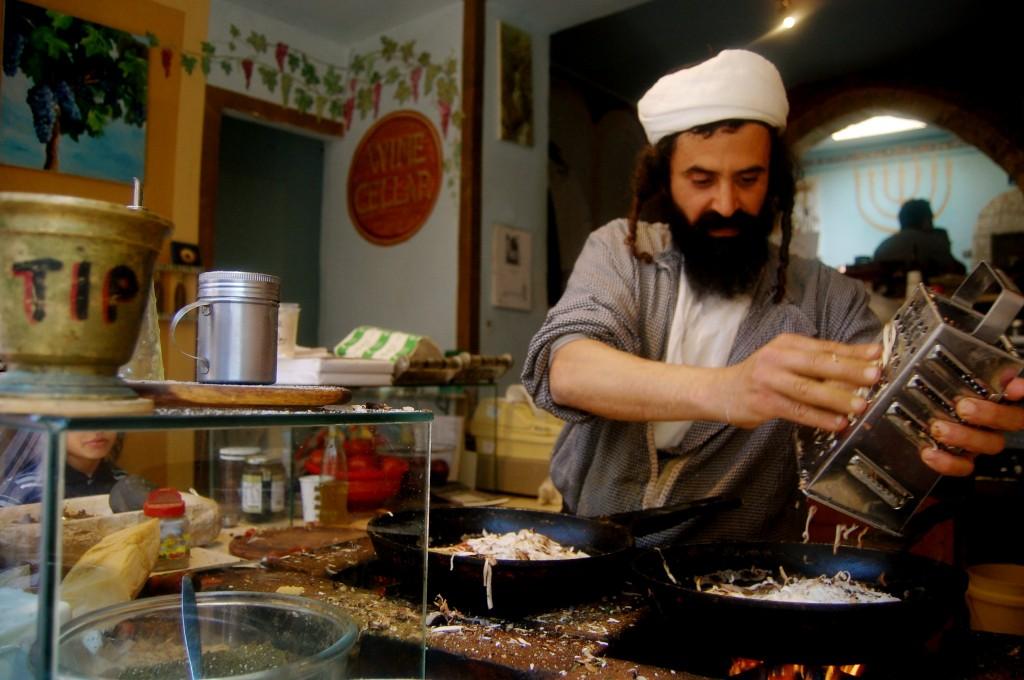 Yemenite food stand in Israel