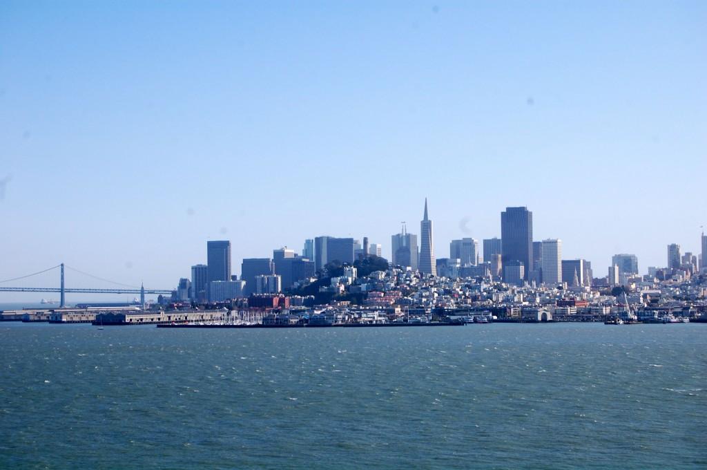 San Francisco skyline from Alcatraz