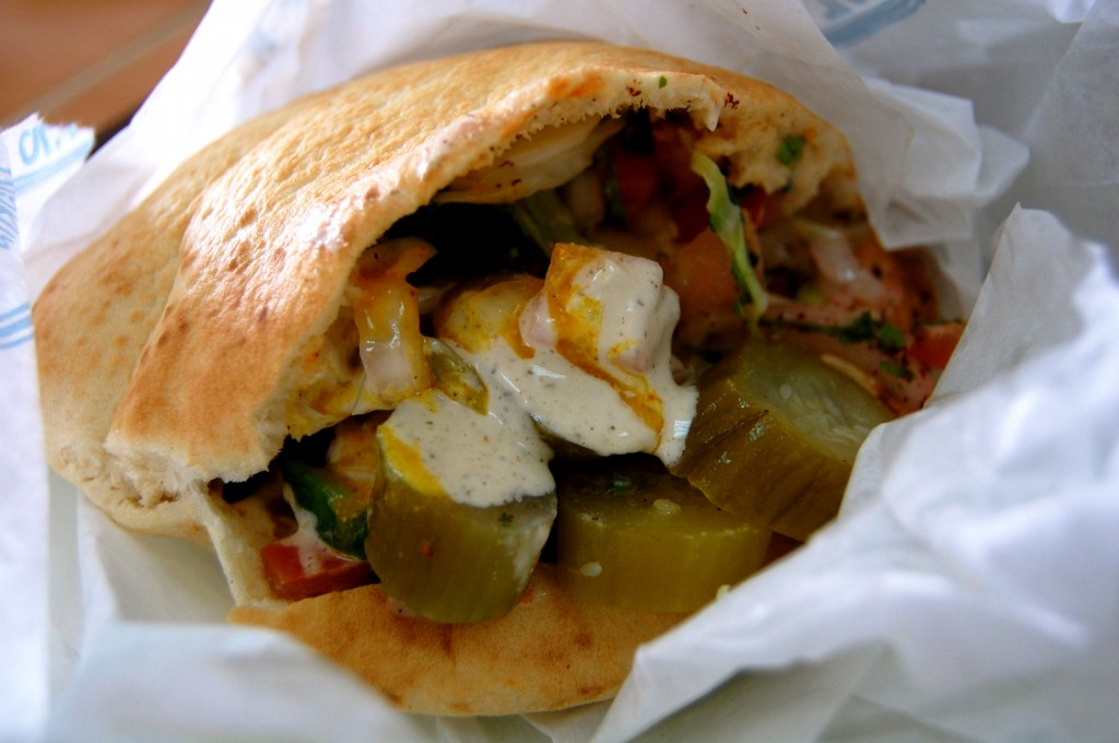 Israeli falafel sandwich