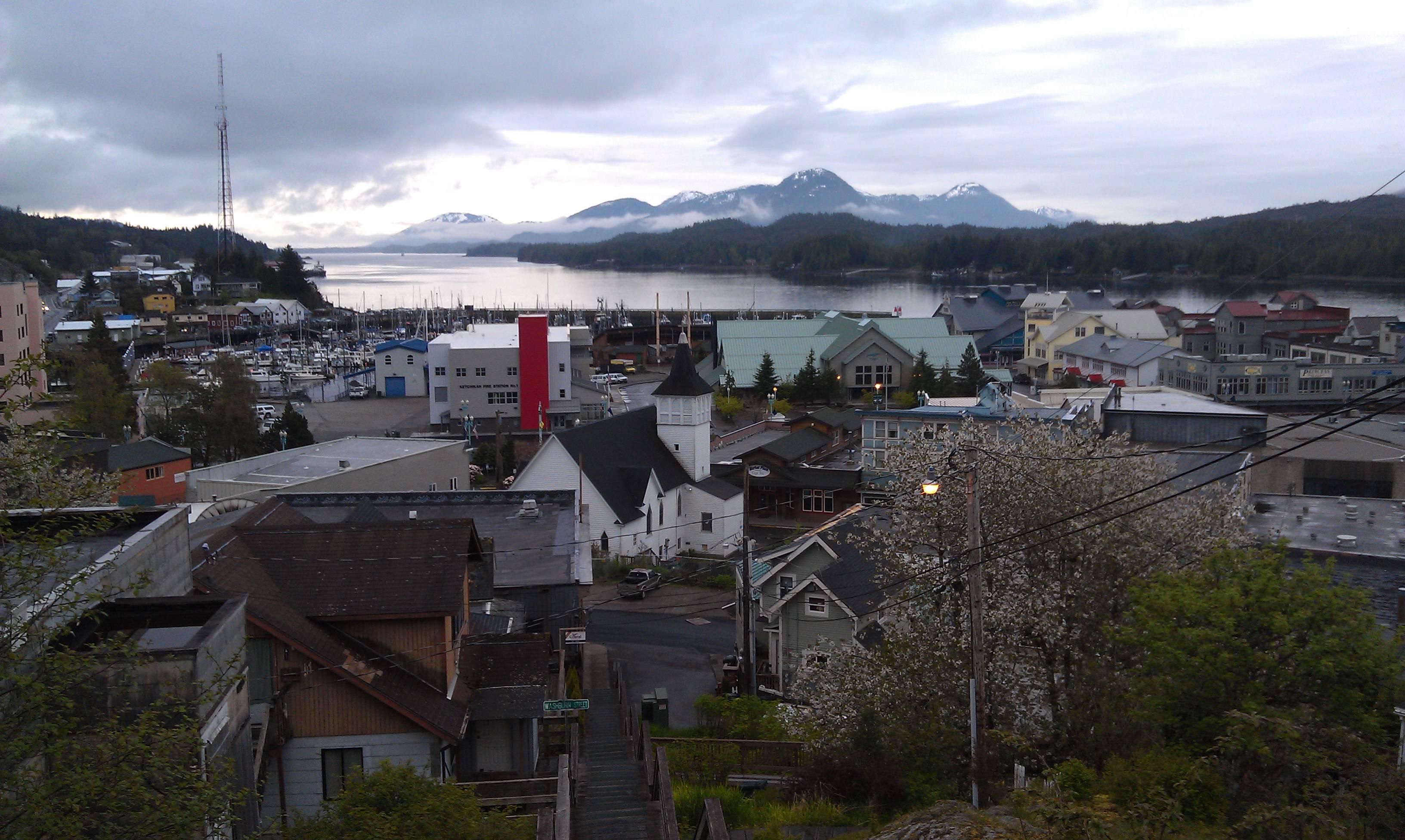 Morning view of Ketchikan, Alaska
