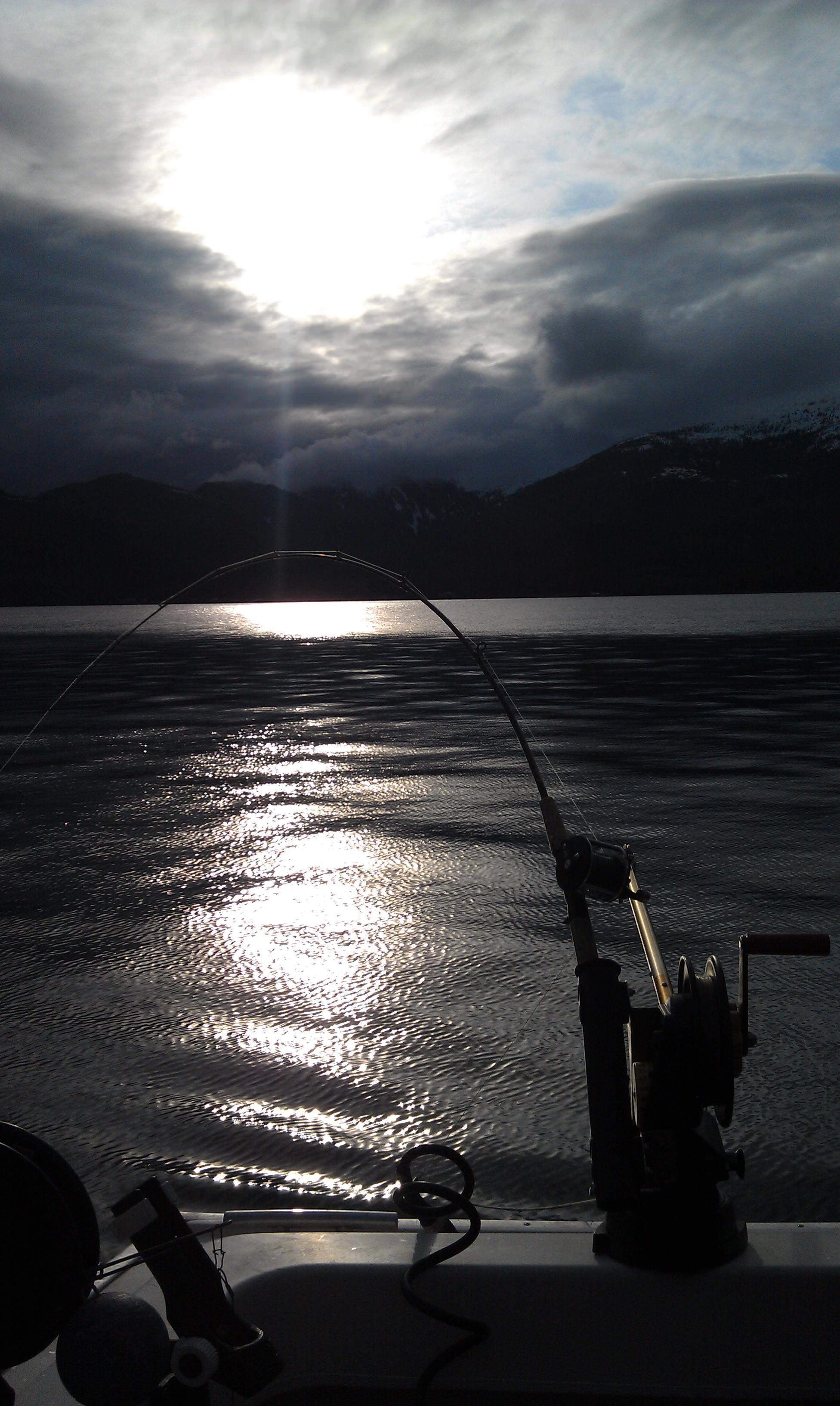 Evening fishing in Ketchikan, Alaska