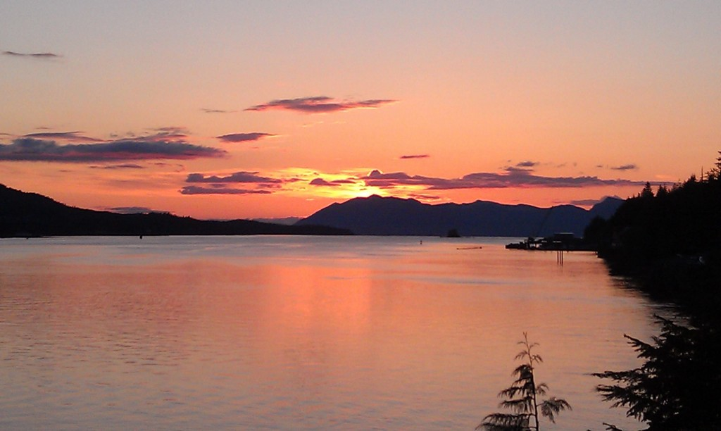 Sunset in Ketchikan, Alaska