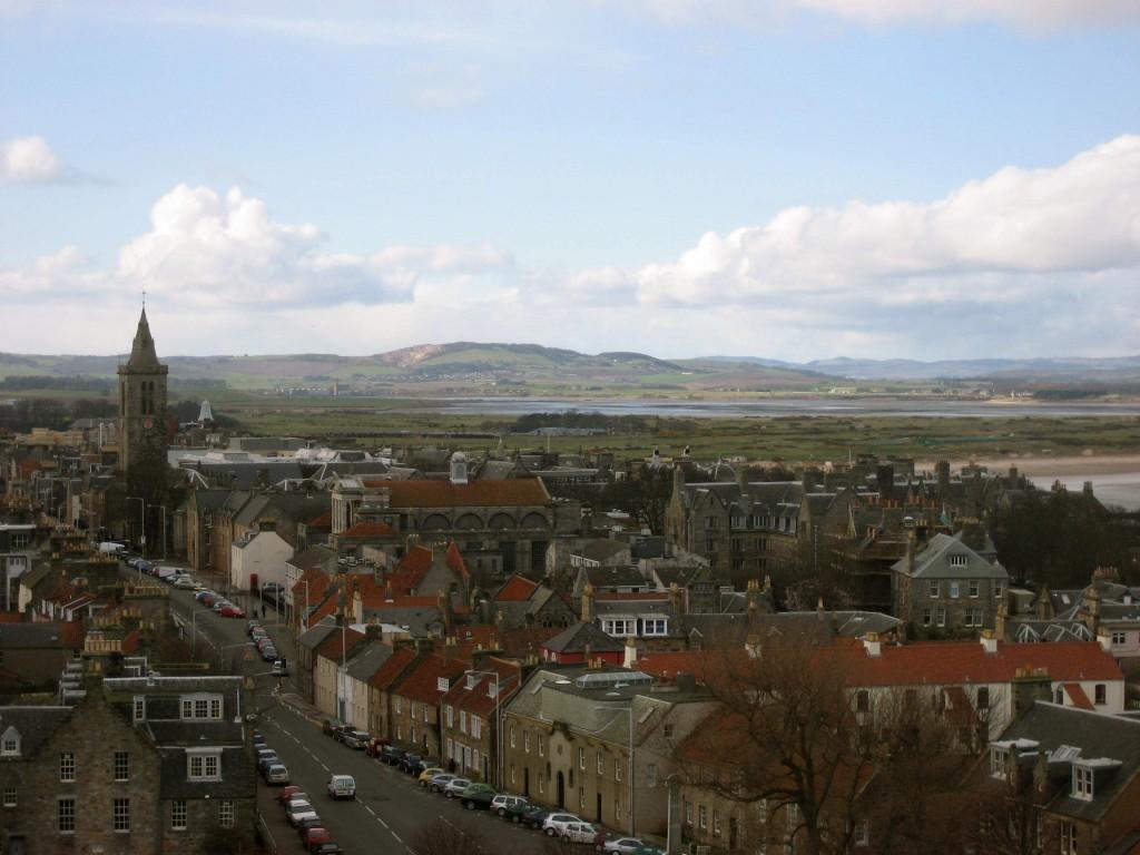 Bird's eye view of St. Andrews, Scotland