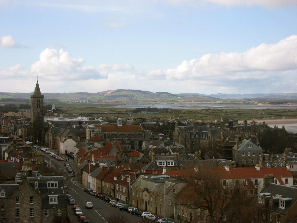 Bird's eye view of St. Andrews, Scotland