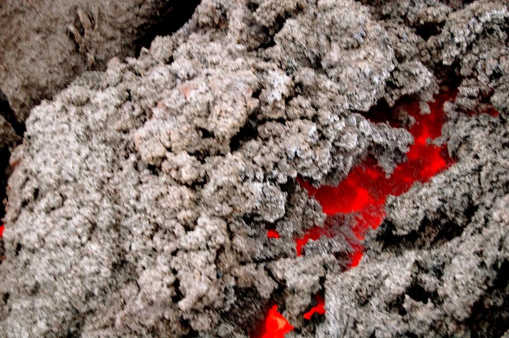 Lava on Pacaya Volcano in Guatemala
