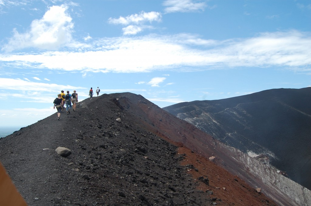 Climbing Cerro Negro volcano in Leon, Nicaragua