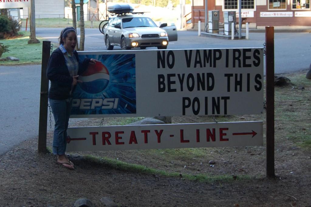 The vampire sign in Forks, WA