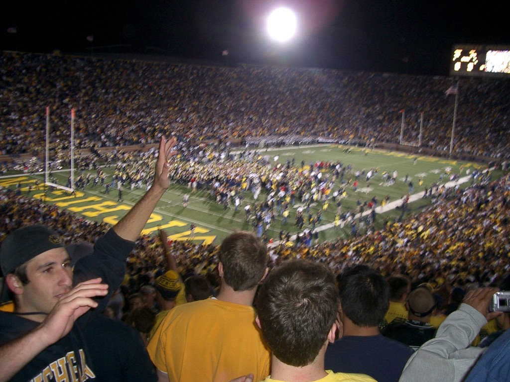 Michigan beating Michigan State in 2004