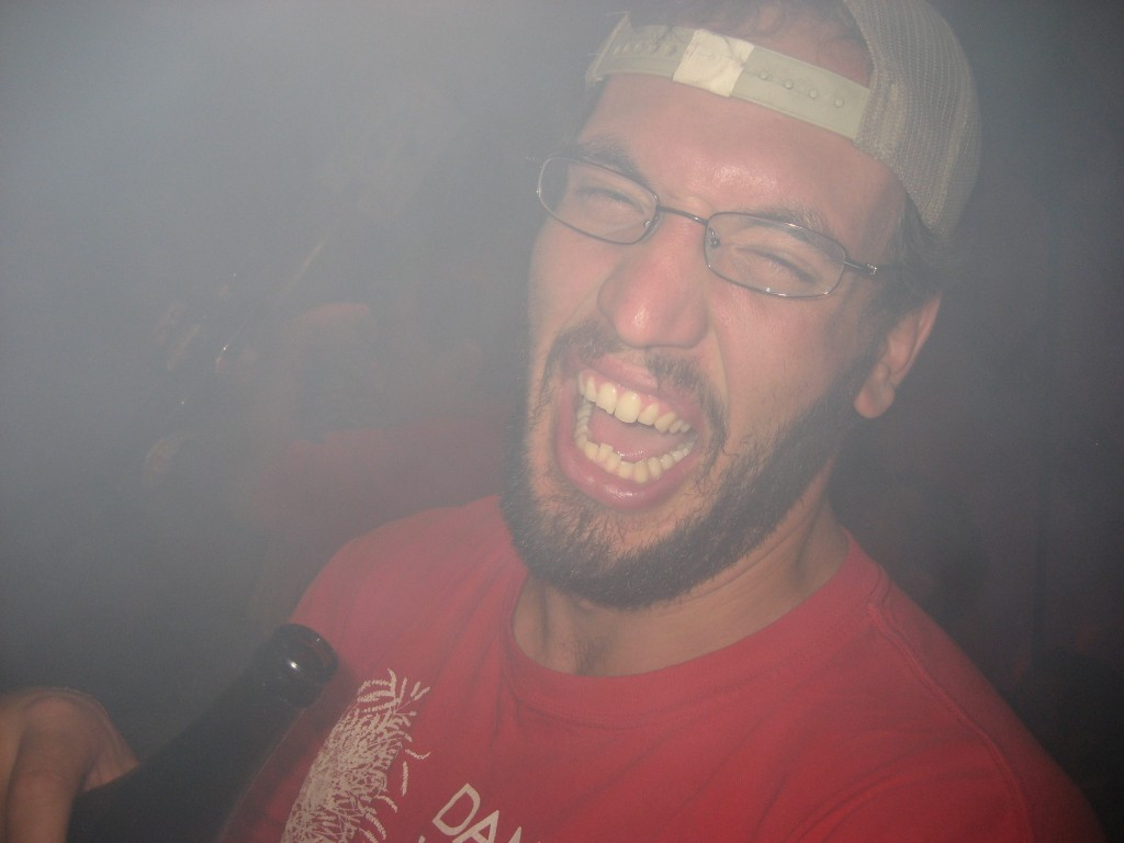 Terrible face from smoke.