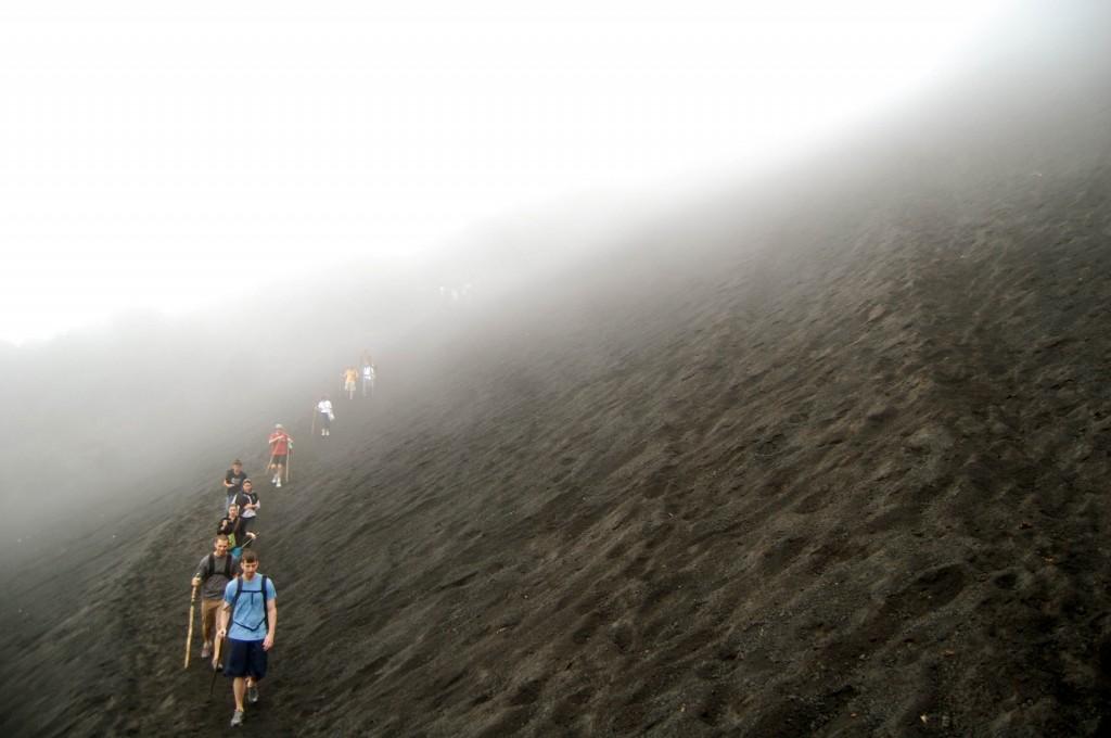 Climbing up Pacaya Volcano in Guatemala