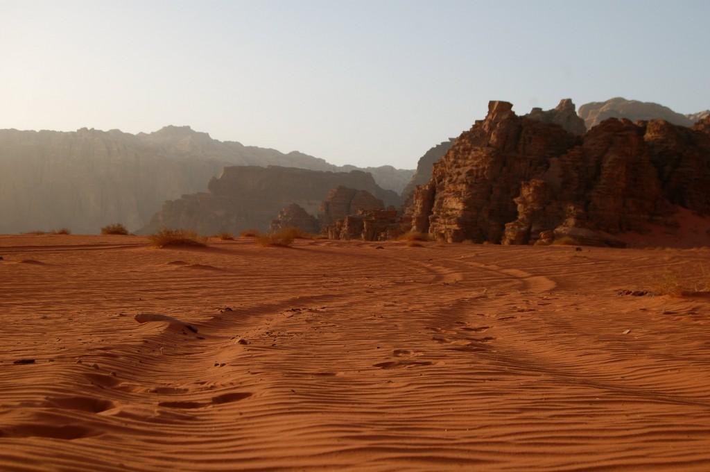 Driving through the Wadi Rum Desert with the Bedouin in Jordan