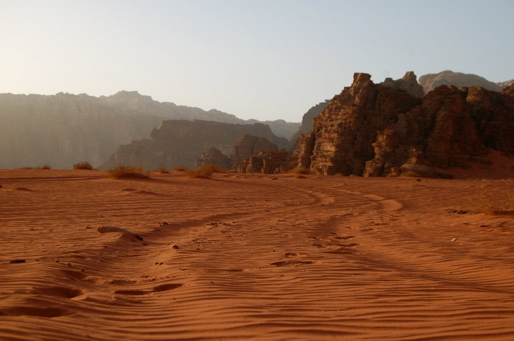 Driving through the Wadi Rum Desert with the Bedouin in Jordan