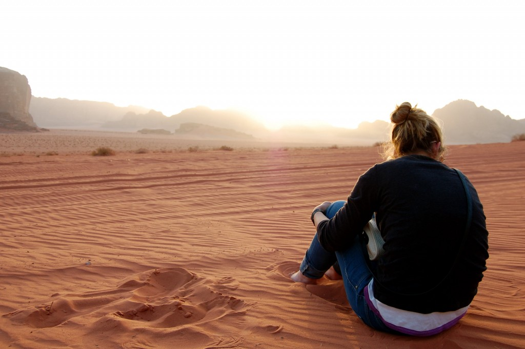 Sunset in the Wadi Rum Desert - camping with the Bedouin