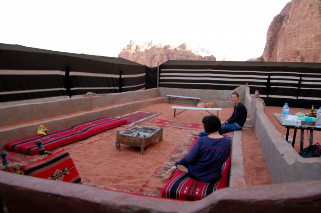 Full Moon Desert Camp in Wadi Rum Desert in Jordan