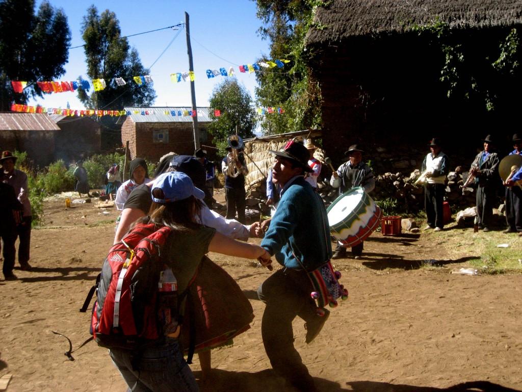 Dancing at a Peruvian wedding