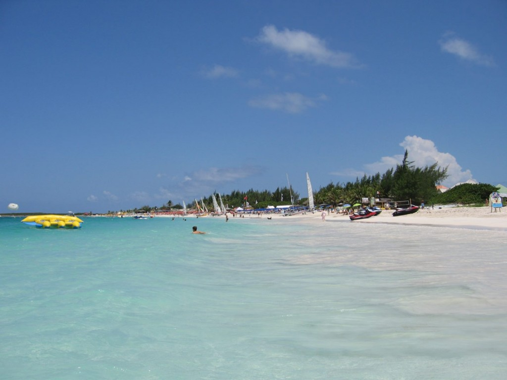 White sand of Saint Martin