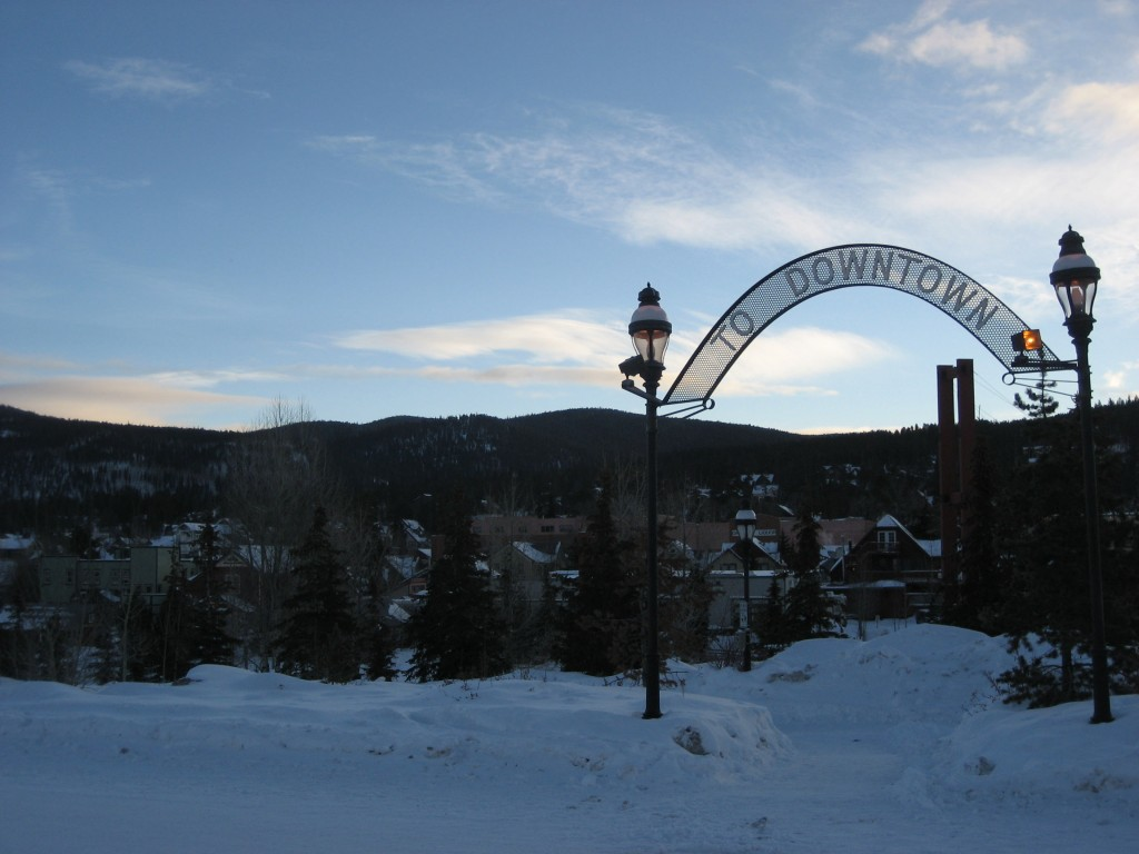 Gate to downtown Breckenridge, CO