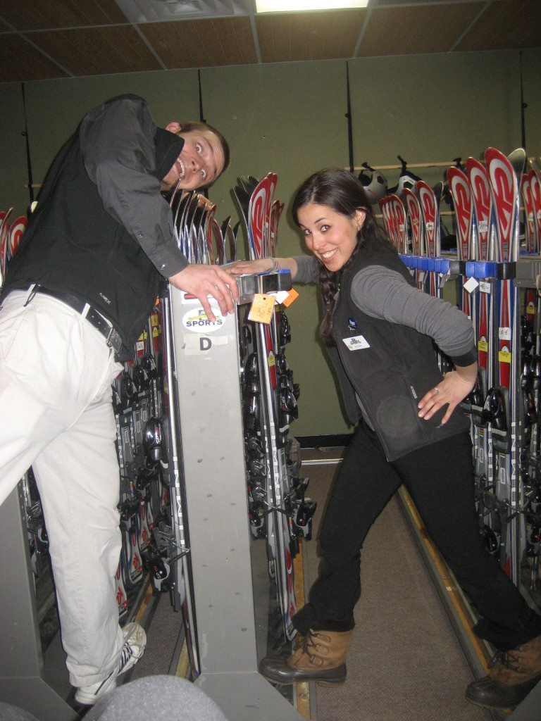 Working at a ski shop in Breckenridge, CO