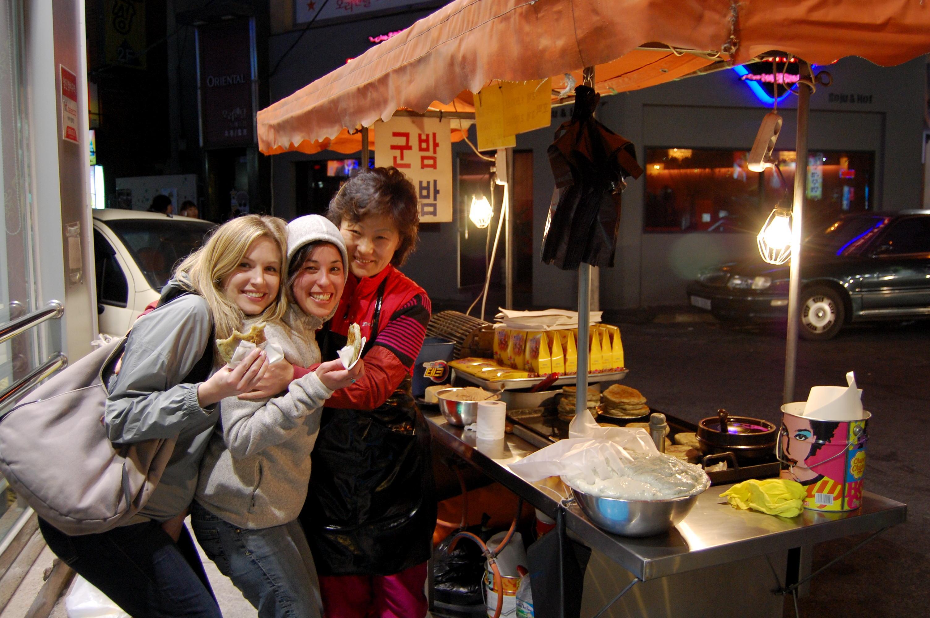 Korean pancake lady