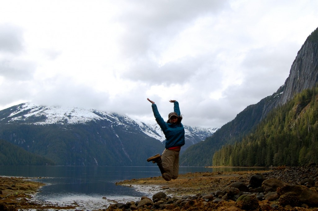 Jumping in Misty Fjords National Monument, Alaska