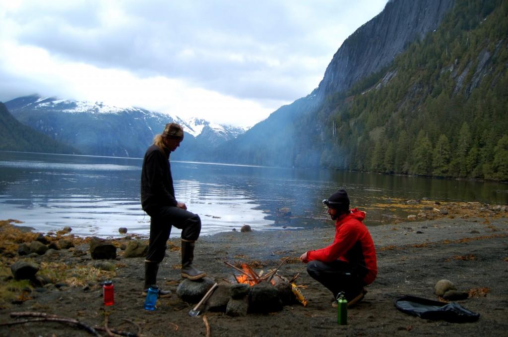 Campfire in Misty Fjords National Monument, Alaska