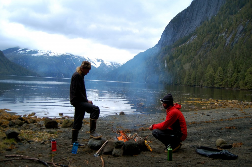 Campfire in Misty Fjords National Monument, Alaska
