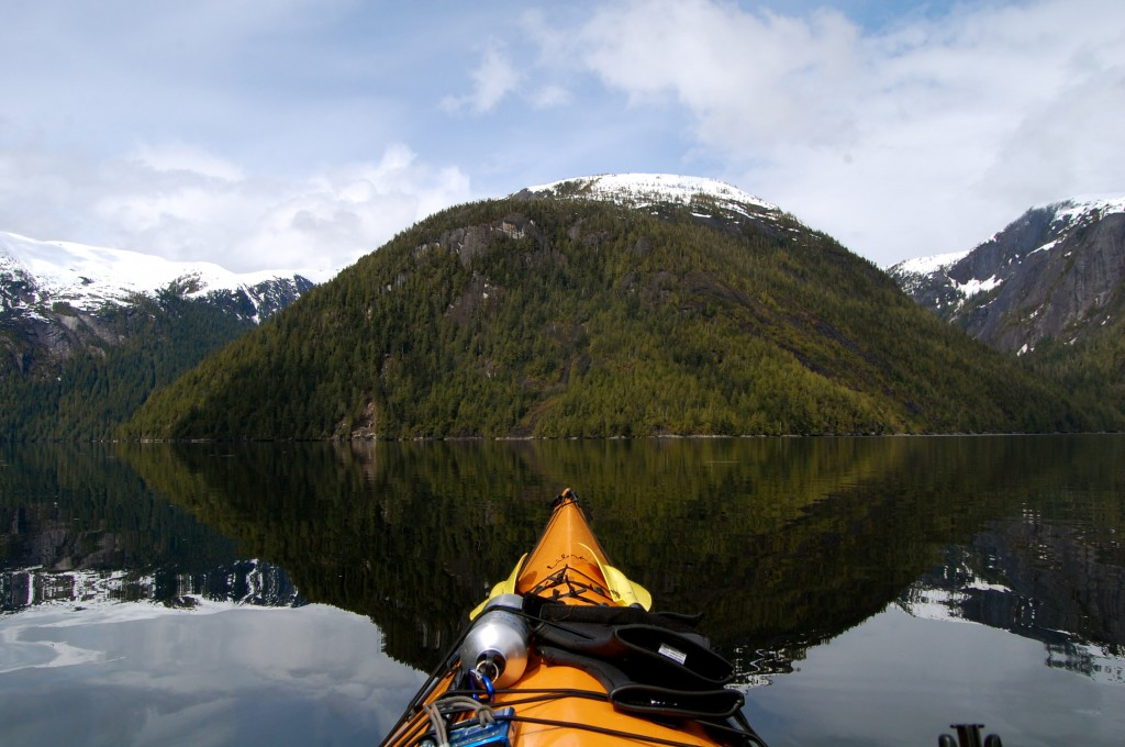 View from a kayak in Misty Fjords National Monument, Alaska