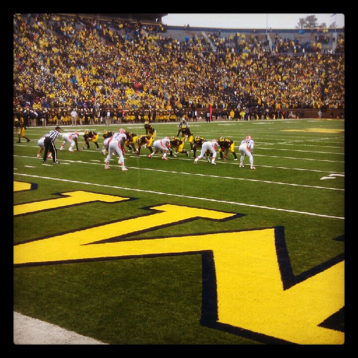 Michigan football v. Illinois 2012