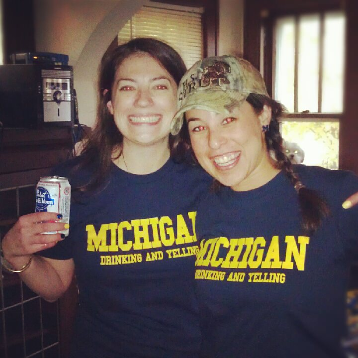 Awesome t-shirts at the Michigan football game