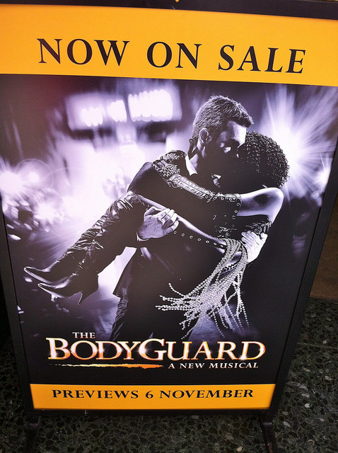 The Bodyguard - poster in London