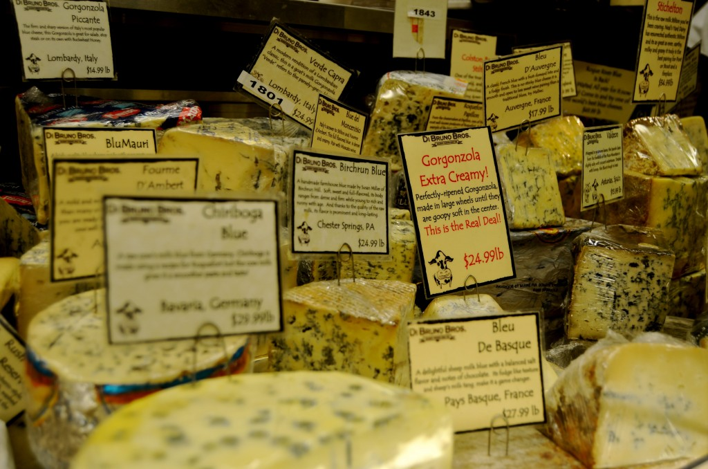 Cheese at Dimarco Bros in Philadelphia