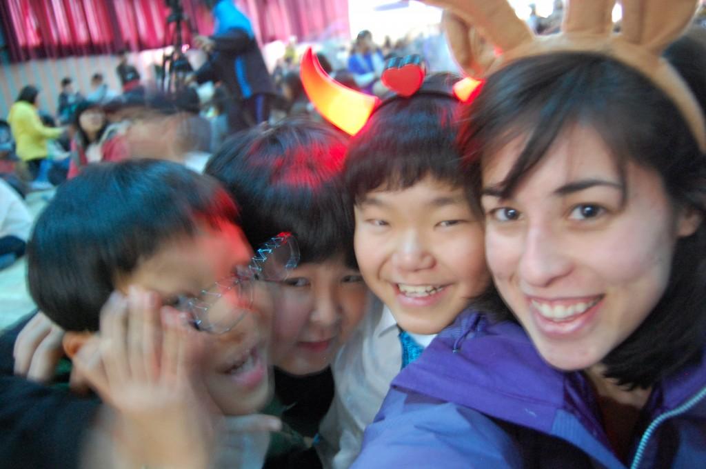 Teacher and Korean students